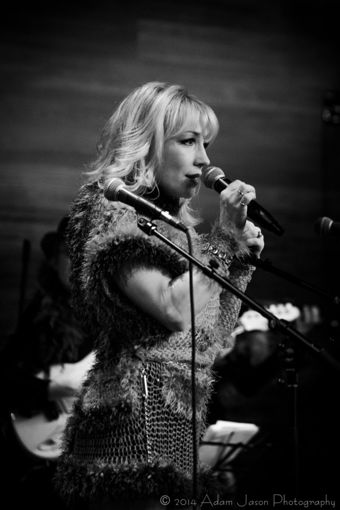 Joni Blondell at Femme Fabulous concert (December 2014), which raised $10,000 for Hope's Door (photo: Adam Jason)