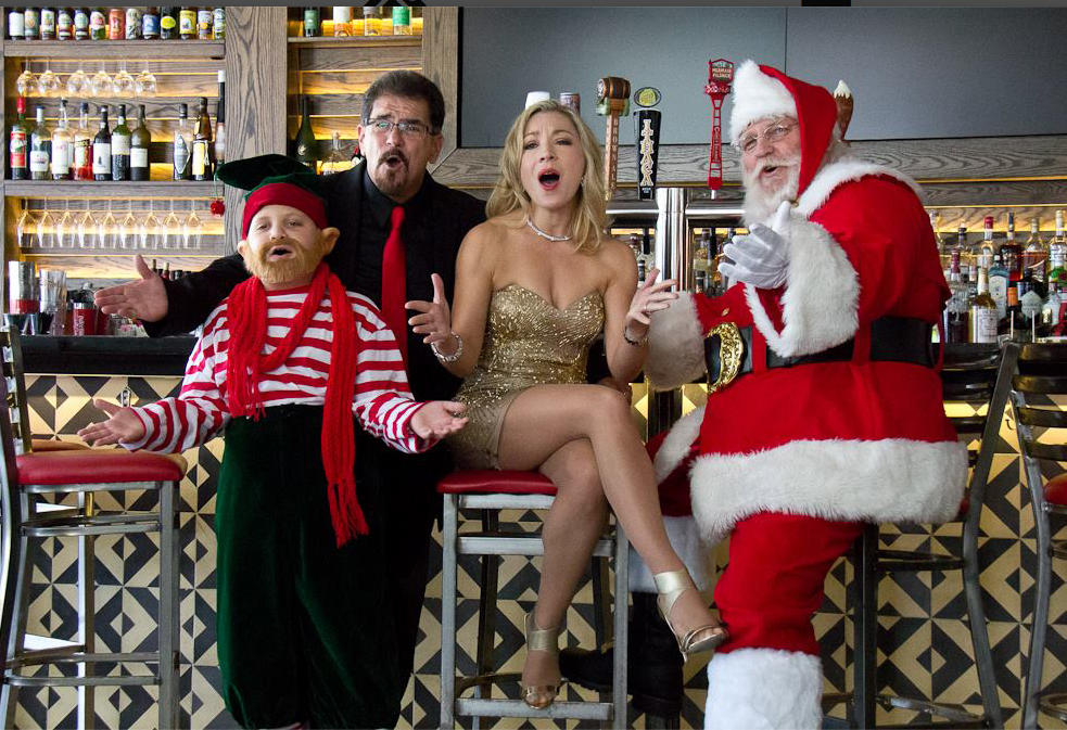 "Joni Blondell in ""The Santa Shakedown"" Music Video"